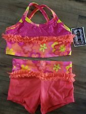 Girls LEXI LUU Dancewear Dance Top Shorts Outfit Set Size XL