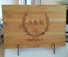 Personalized cutting chopping board, wedding, christmas gift, house warming