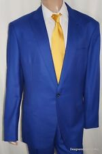 ALBA Bespoke Suit Mens 48 XL Blue Sharkskin Magic Johnson Tailored 4/27/2015