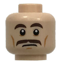 Lego Classic Castle King Minifigure Head Moustache Red Eyebrows Hair Pattern