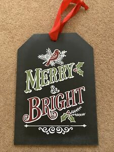 New John Lewis Wooden Christmas Plaque