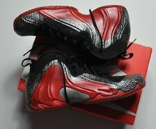 Nike Flightposite Basketball Shoes Men's sz 12 Gray/Black/Red