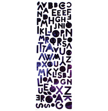 METALLIC ALPHABET LETTERS - PURPLE - SIMPLY CREATIVE