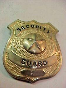 Vintage Security Guard Metal Badge