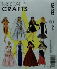 """**SALE** McCall's 6232 DOLL CLOTHES Sewing PATTERN for 11-1/2"""" BARBIE DOLLS"""