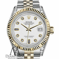Rolex 26mm Datejust 2 Tone White 8+2 Diamond Numbers Shoulders 18K Gold Jubilee