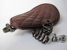 Solo Kit Completo De Asiento Muelles & Soporte Harley Chopper Bobber Marrón Resistente