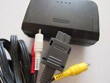 OEM Nintendo 64 N64 Power Supply Cord Brick + Official AV RCA Cable Hookups Lot
