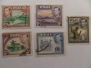 FIJI 1938nSG262,263ab,264,265,266 USED CV£26