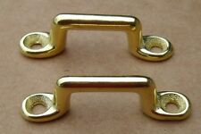 Lot of 2 Footman Loop McClellan Cavalry Saddle Solid Brass Civil War