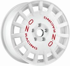 OZ rally racing bianco + ROSSO let. CERCHIONE 8x18 - 18 pollici 5X108 interasse