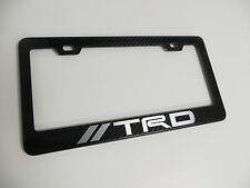 Brand New 100% REAL CARBON FIBER LICENSE PLATE FRAME *TRD*