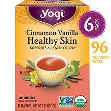 Yogi Tea - Cinnamon Vanilla Healthy Skin - 6 Pack, 96 Tea Bags Total