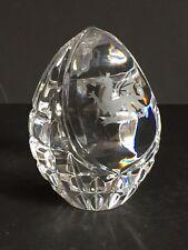 Welsh Sfaccettato OVOIDE UOVO Crystal Art Glass fermacarte con DRAGO INCISO