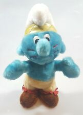 1983 vintage Indian Smurf Peyo TV Smurf Stuffed Doll Wallace Berrie RARE P5