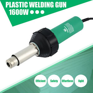 1600W Pistola Antorcha Soldadura de Plástico Aire Caliente Soldador UK Plug