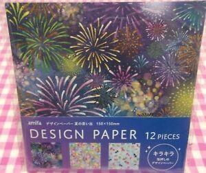 amifa / Summer Memory 3 Design Paper / Japan Fireworks Festival Goldfish