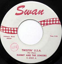 DANNY & THE JUNIORS 45 Twistin' USA /  A Thousand Miles Away Doo WOP cc1171