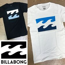 """2"" Men's Billabong T-shirt Color : White & Black  Size : Small Fast Shipping"