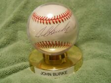 JOHN BURKE AUTOGRAPHED SIGNED BASEBALL Colorado Rockies