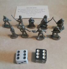 1997 Star Wars Monopoly Pieces Pewter & Black and white dice
