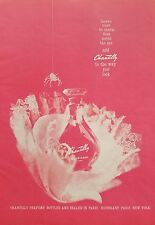 1960 Houbigant Chantilly perfume bottle lace spider color AD
