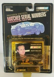 Rusty Wallace #2 Matched Serial Number on Car Collector Card & Display Stand NEW