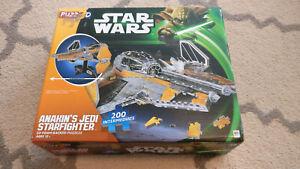 Star Wars Puzz 3D Anakin's Jedi Starfighter 2013 200 Pieces Puzzle COMPLETE