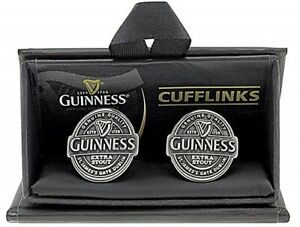 Guinness Antique Look Silver (colour) metal cufflinks (sg)