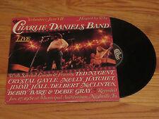 THE CHARLIE DANIELS BAND signed VOLUNTEER JAM VII 1981 Record / Album COA