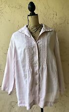 JONES NEW YORK WOMEN'S TOP BLOUSE PLUS 18W BUTTON DOWN SHIRT LINEN PINK CAREER
