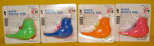 Water Whistle Bird Educational / Party Favors Toy 4pcs Assorted Colors NEW