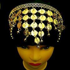 Belly dance tribal monedas pelo joyas diadema frente cadena hairband perchero