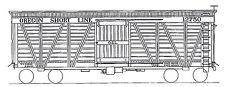 OREGON SHORT LINE STOCK CAR HO Model Railroad Unpaintd Craftsman Wood Kit TC2870