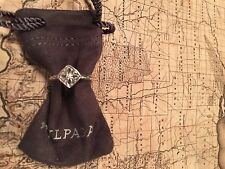 SILPADA R2465 .925 Sterling Silver Belle Fleur Stack Ring W/ CZ Stone Sz 8 New