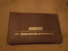 1980 DODGE COLT CHALLENGER ASPEN OMNI MIRADA RARE COLOR UPHOLSTERY DEALER ALBUM