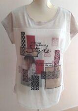 Superbe tee-shirt à motifs de marque Camaieu T3 (42) neuf