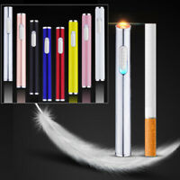 Electric Cigarette Coil Lighter Usb Rechargeable Thin Compact Size Windproof