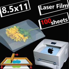 100 sheets,8.5 x 11,Screen Printing Transparency Film for LASER PRINTER Paper