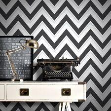 Scala Black and White Zigzag Wallpaper Modern Large Chevron by Rasch 304107