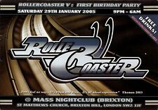 (RAVE FLYER 2005) ROLLER COASTER @ MASS.BRIXTON.LONDON. TOTAL SCIENCE.APHRODITE