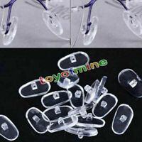100 PCS Plaquettes Pad Support Nez Lunettes Eyeglasses Silicone Anti-dérapant