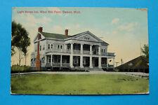 USA United States of America AK Detroit Mich. 1909 Light House Inn Wind Mill Poi