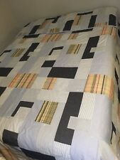 RALPH LAUREN King Comforter 2 King Pillow Shams Blue Plaid Madras Cases