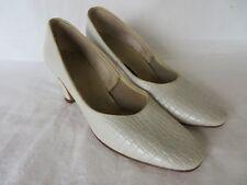 Vintage Life Stride Womens Pumps Split Leather Ivory Size 6 AAA / AAAAA   #791