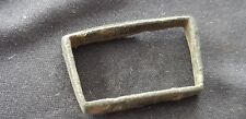 Superb stirrup type Medieval bronze buckle, Please read description. L106n
