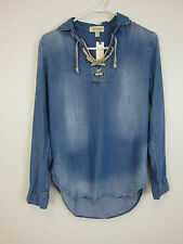 Anthropologie Cloth & Stone Chambray Tunic Long Sleeve Shirt - Womens XS - NWT