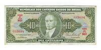 10 Cruzeiros Brasilien 1954 C077 / P.159b Brazil Banknote