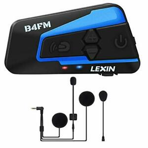 con funci/ón de Radio FM reducci/ón de Ruido a Prueba de Agua LEXIN 2X ET-COM Motociclistas Intercomunicador Bluetooth Sistema de comunicaci/ón Distancia de intercomunicaci/ón Dentro de 1200M