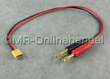 Ladekabel 4mm Bananenstecker Goldstecker > XT30 Gold Stecker Lipo Akku 30/37cm